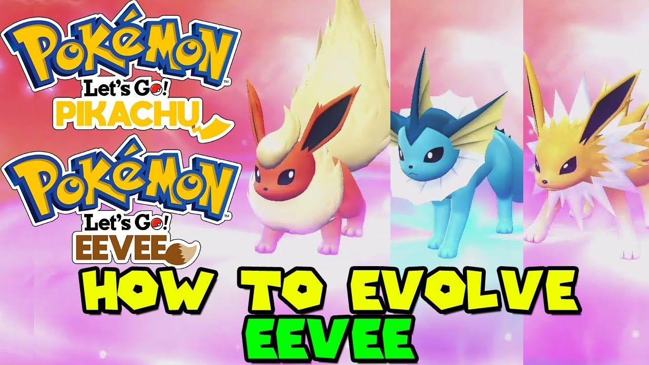 How to get eevee to evolve into umbreon in pokemon lets go