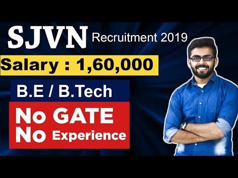 SJVN Recruitment 2019 | Salary 1,60,000 | No GATE | No Experience | BE/Btech | Latest Job Updates