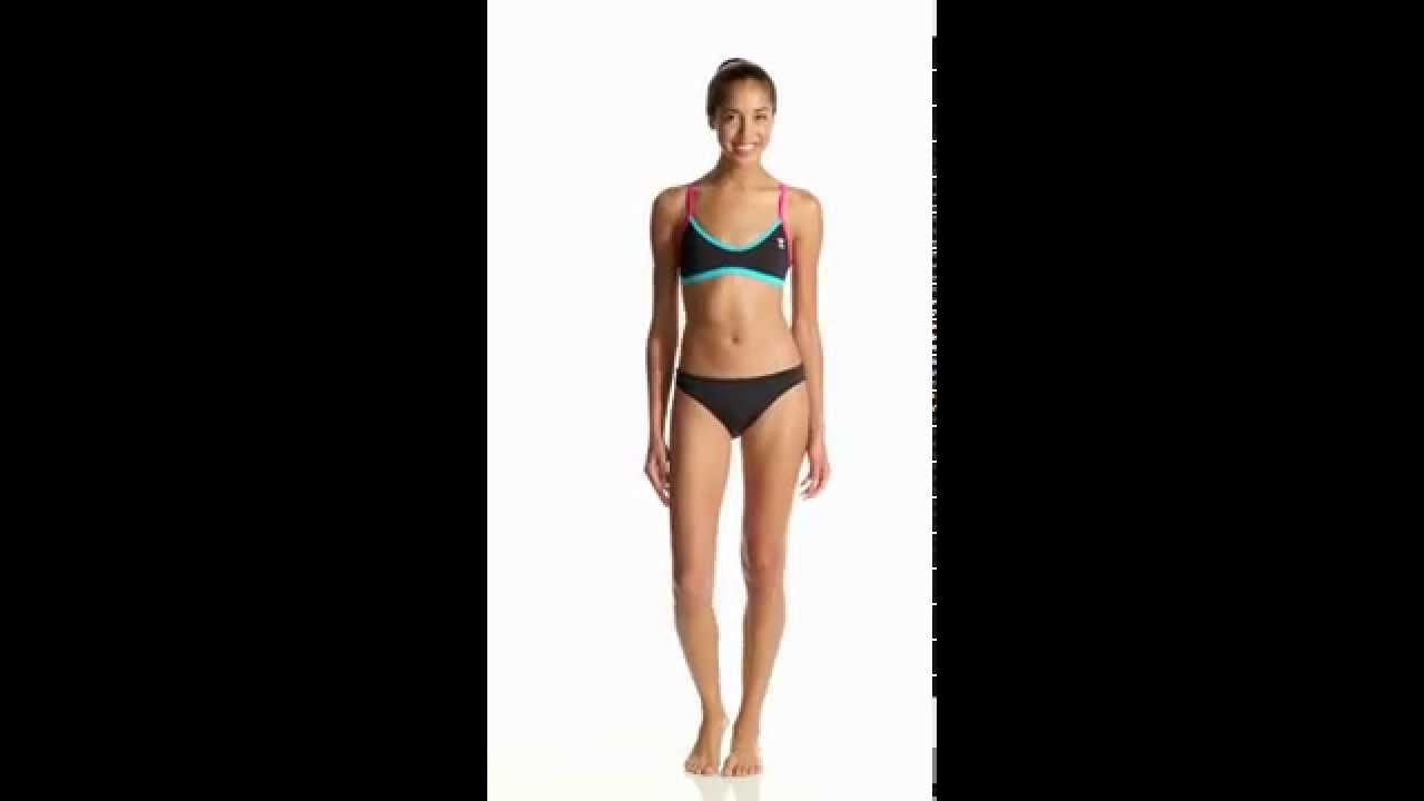 596705a4d3 TYR Solid Brites Crosscutfit Bikini Swimsuit Top