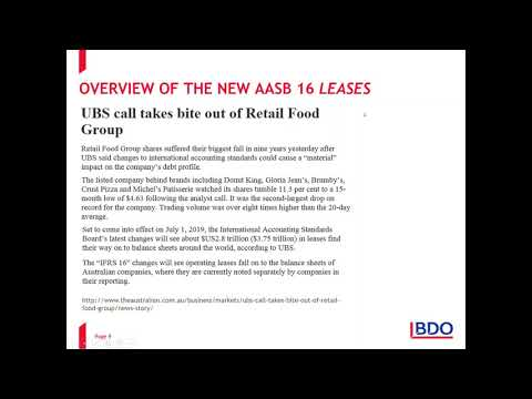 IFRS Webinar Series - The New AASB 16 – Identifying a Lease and Determining the Lease term