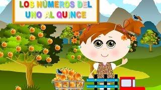 LOS NÚMEROS DEL 1  AL 15 CON NARANJAS - VIDEOS PARA NIÑOS - ESPAÑOL PARA TODOS