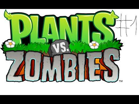 1-ое видео по игре растения против зомби ! . Достижение ,,Включить рижим усов ! .
