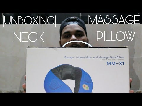|UNBOXING| ROCAGO MASSAGE NECK PILLOW !!!!