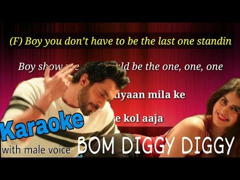 Bom Diggy Diggy Karaoke With Male Voice And Lyrics (sonu Ke Titu Ki Sweet)