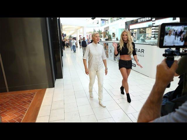 Елен Деџенерис и Бритни Спирс во шопинг центар