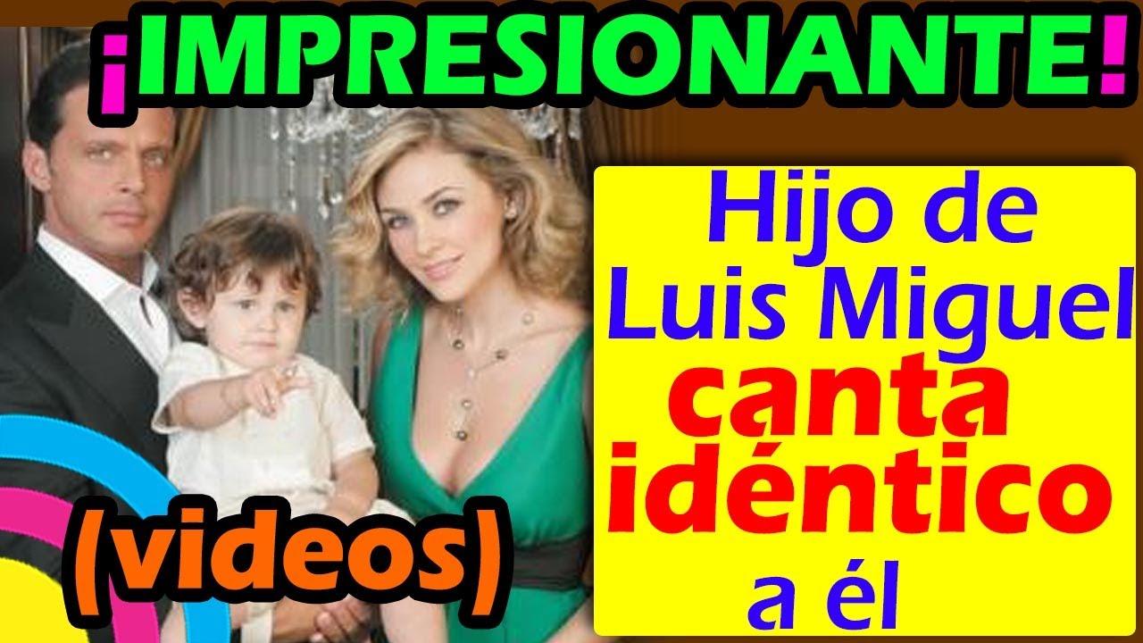 ¡IMPRESIONANTE! Hijo de Aracely Arámbula CANTA IGUAL que ...