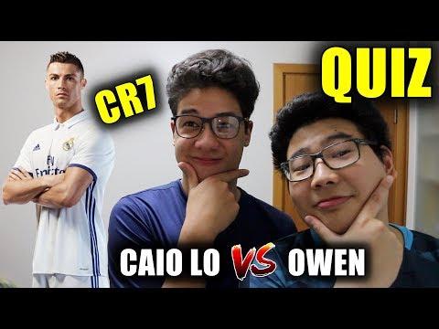 QUEM SABE MAIS SOBRE CRISTIANO RONALDO? (CAIO LO vs OWEN) - QUIZ DE FUTEBOL