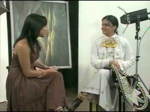 Programa cultural Luces. Telemayabeque. Cuba. Invitada la interprete Laura Garcia.