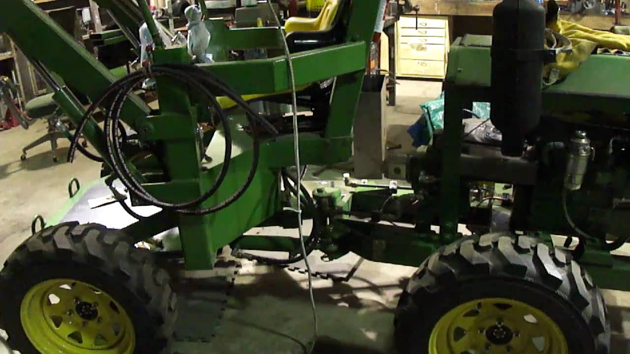DIY Articulated Tractor Steering Test YouTube – Articulated Garden Tractor Plans