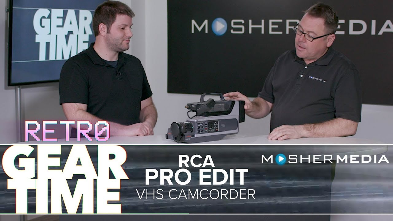 Retro Gear Time Rca Pro Edit Camcorder Youtube