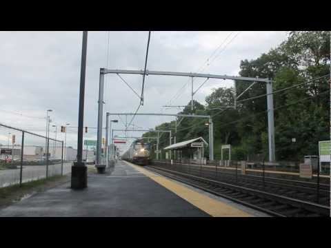 Amtrak trains passing by South Attleboro MA