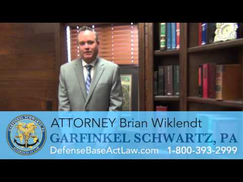 Brian Wiklendt has compassion for the pain that injured longshoremen and civilian contractors have experienced. He approaches every Defense Base Act case and longshore compensation case with a commitment to clients.   If Garfinkel Schwartz can ever help any of our civilian contractors, please don't hesitate to call 800-393-2999. We will fly to you anywhere you are. You may call our offices in (Maitland, Florida) or in (Cocoa Beach, Florida).