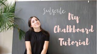 DIY Giant Chalkboard Tutorial | Lindsay Brooke