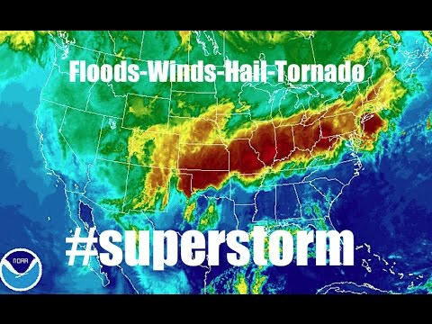 *Jaw-Dropping* 'Superstorm' rapidly forms covering HALF of USA! | #superstorm