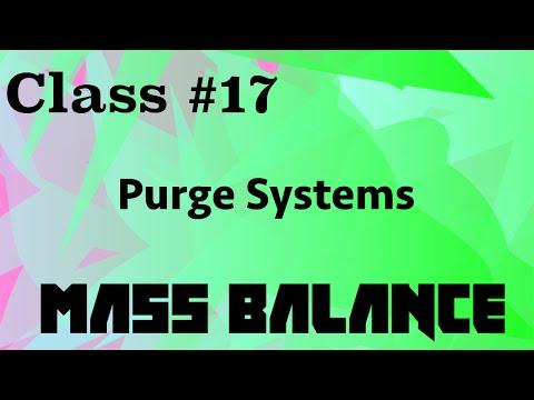 Purge Systems  // Mass Balance Class 17