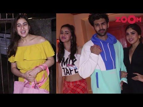 Sara Ali Khan clicks pictures with fans | Kartik, Ananya, Bhumi promote Pati Patni Aur Woh | Spotted Mp3