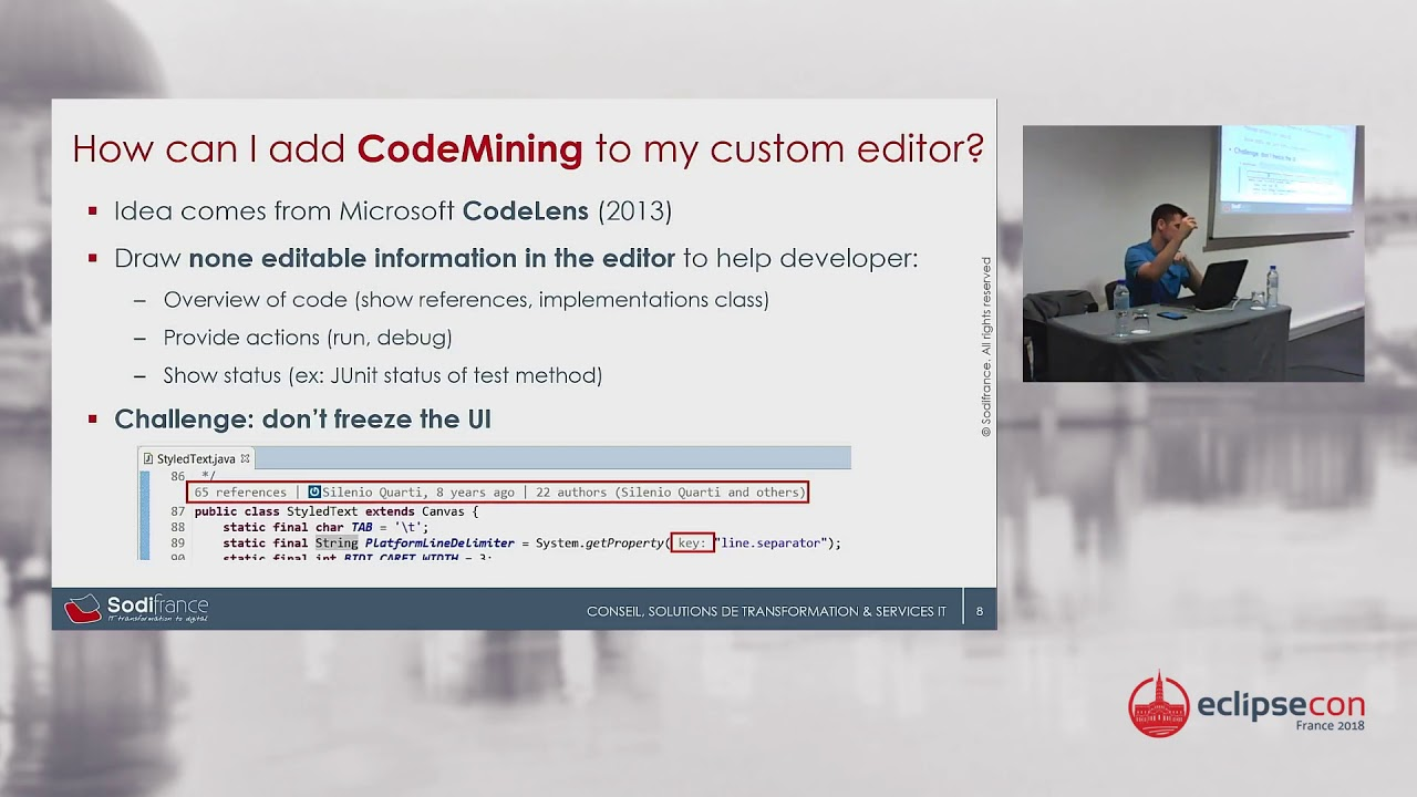 Inline code annotations in Eclipse Platform with new CodeMining support