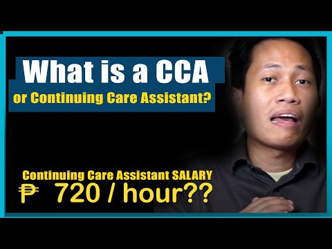 What Is A CCA Or Continuing Care Assistant?
