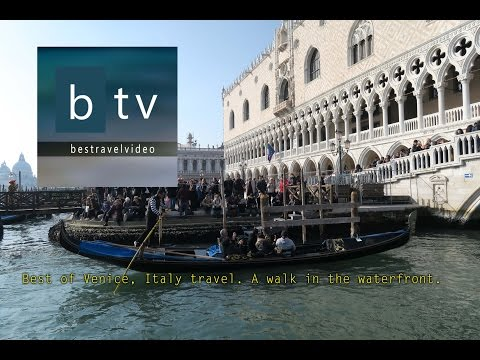 Best of Venice, Italy travel. A walk in the waterfront.