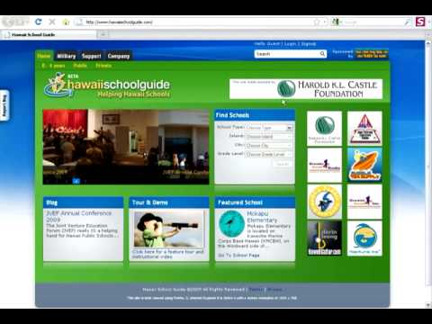 Hawaii School Guide Tour and Demo: Home Page