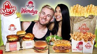 THE FAST FOOD MUKBANG BATTLE! (ARBYS VS  WENDYS)