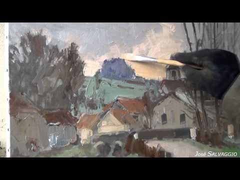 José SALVAGGIO plein air painting 11 Lavincourt