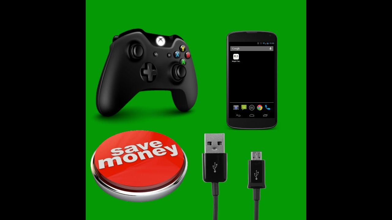 how to charge a xboxone controller with a phone charger - YouTube
