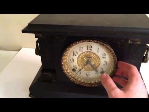 Vintage E. Ingraham Graham Bristol Mantle Shelf Clock Antique Rare Working Old