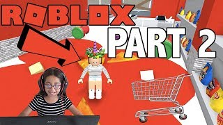 PART 2 | ESCAPE THE EVIL GROCERY STORE OBBY | ROBLOX | GALI | FAMBAM GAMING