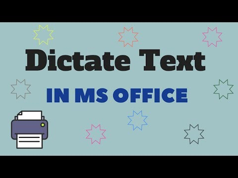 How to Dictate Text in MS Office - Microsoft's Dictate