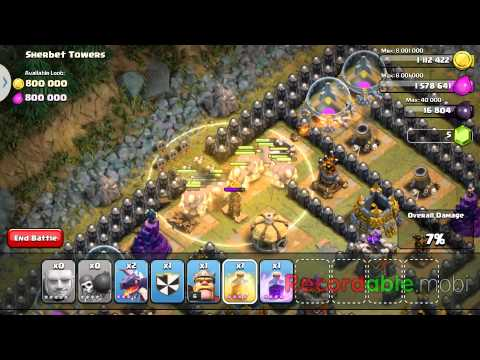 COC: Sherbet Towers Raid With TH8 Troops