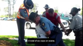"Arrested for ""bad manners"" during the Masters Golf Tournament in Augusta, GA"