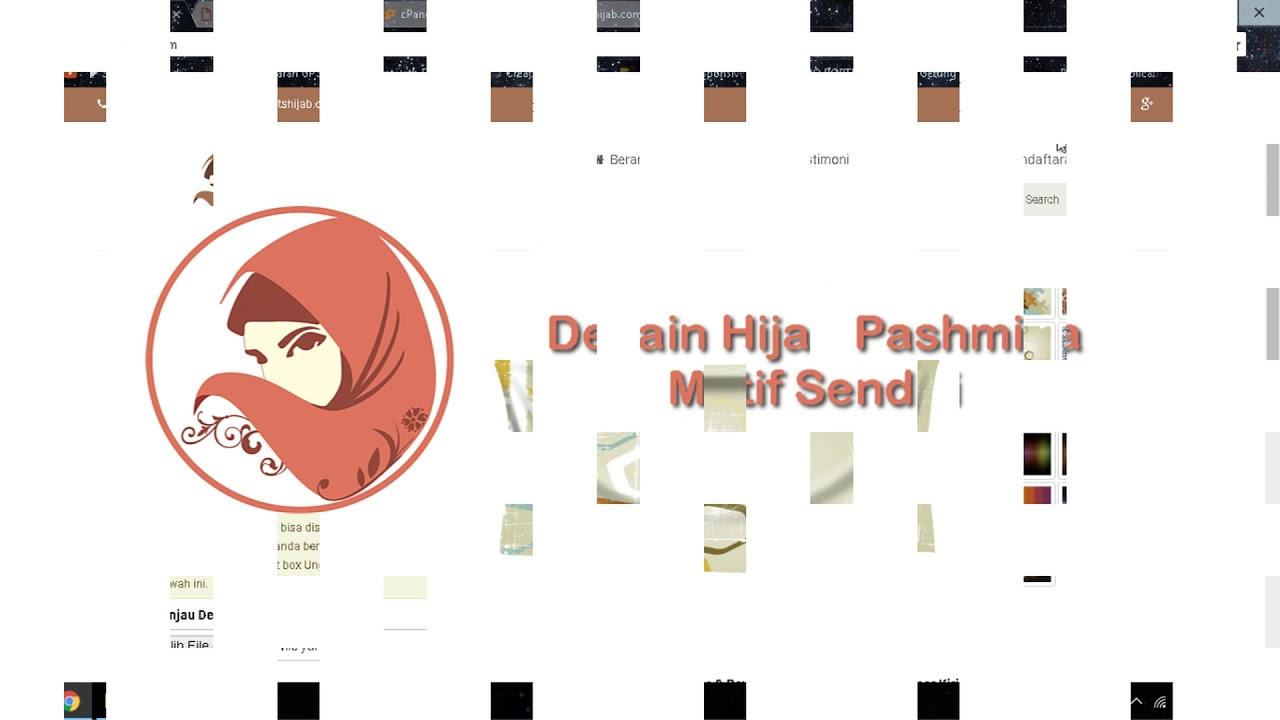 Desain hijab custom sendiri secara online - YouTube
