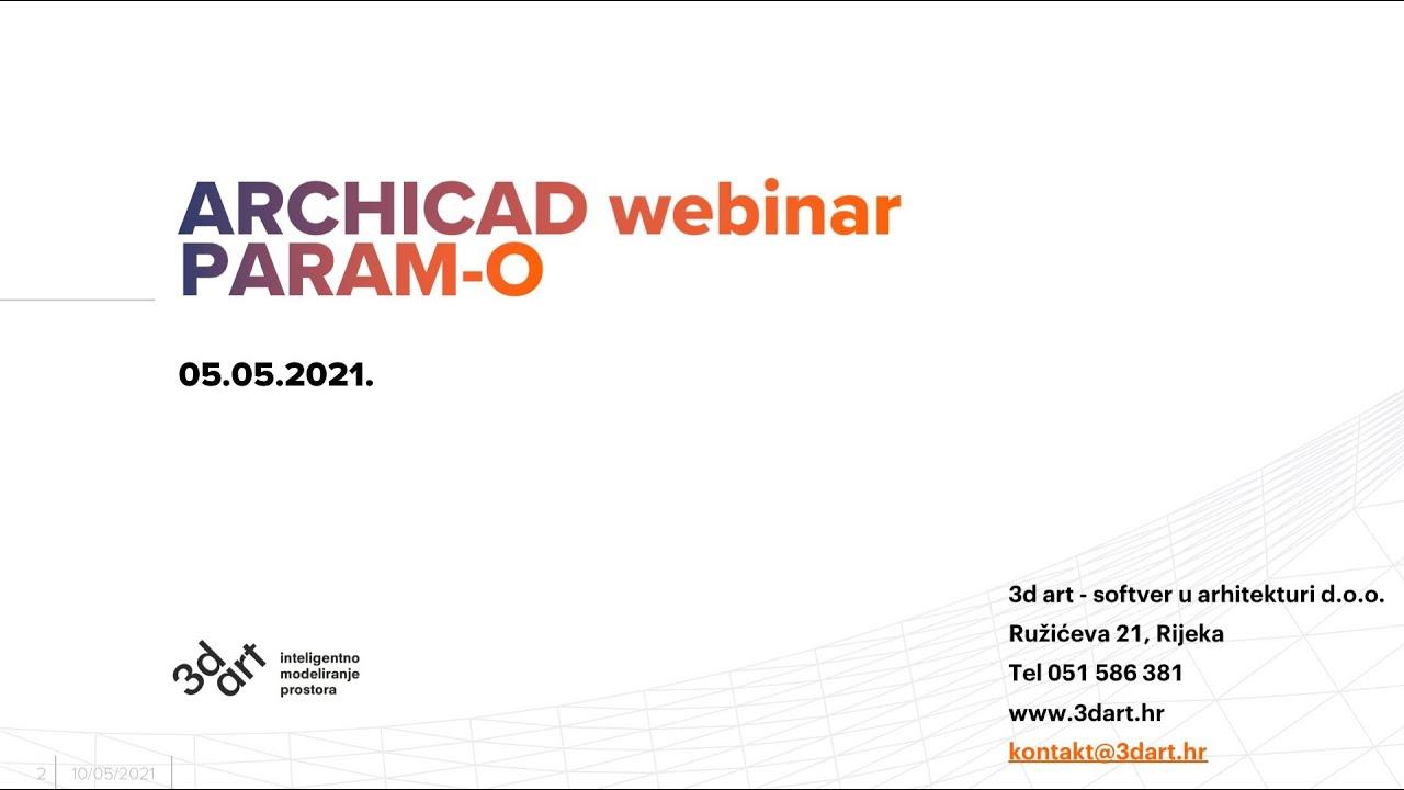 Archicad webinar: PARAM-O