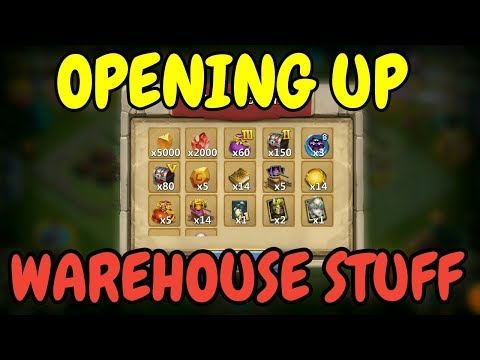 Opening Up Warehouse Stuff & More L Castle Clash