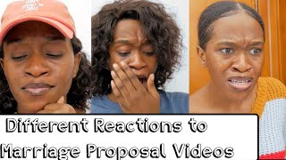 Different Reactions to Marriage Proposal Videos (Maraji's World)