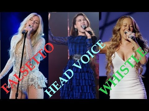 Female Singers - Falsetto, Head Voice & Whistle High Notes