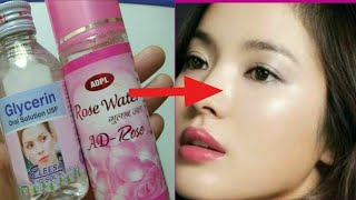 Glycerin and Rosewater for Face, Skin Lightening and Acne