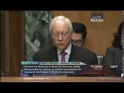 CSPAN Sebelius Senate Testimony Before Senate Finance Committee