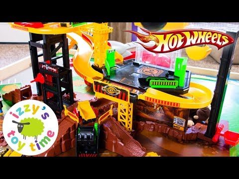 Cars for Kids | Hot Wheels Toys and Fast Lane Construction Vehicle Playset - Fun Toy Cars for Kids