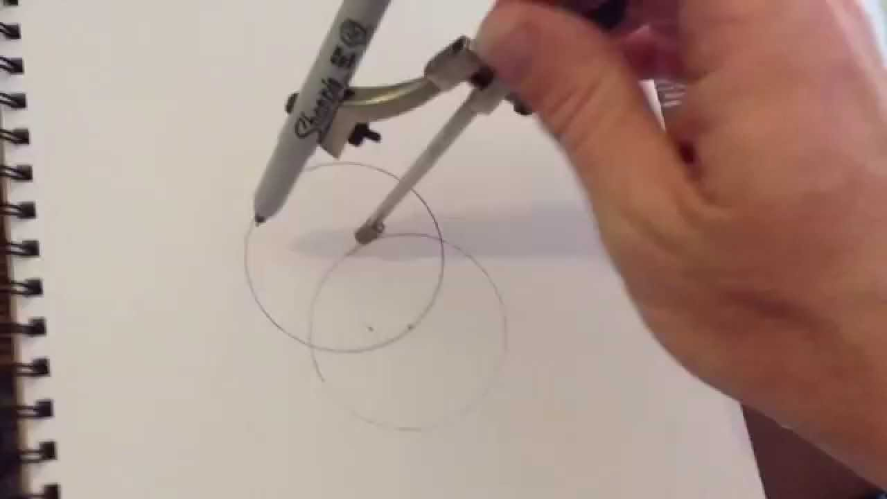 How To,draw The Flower Of Life Pattern Step 1 Or The Genesis Pattern, Or