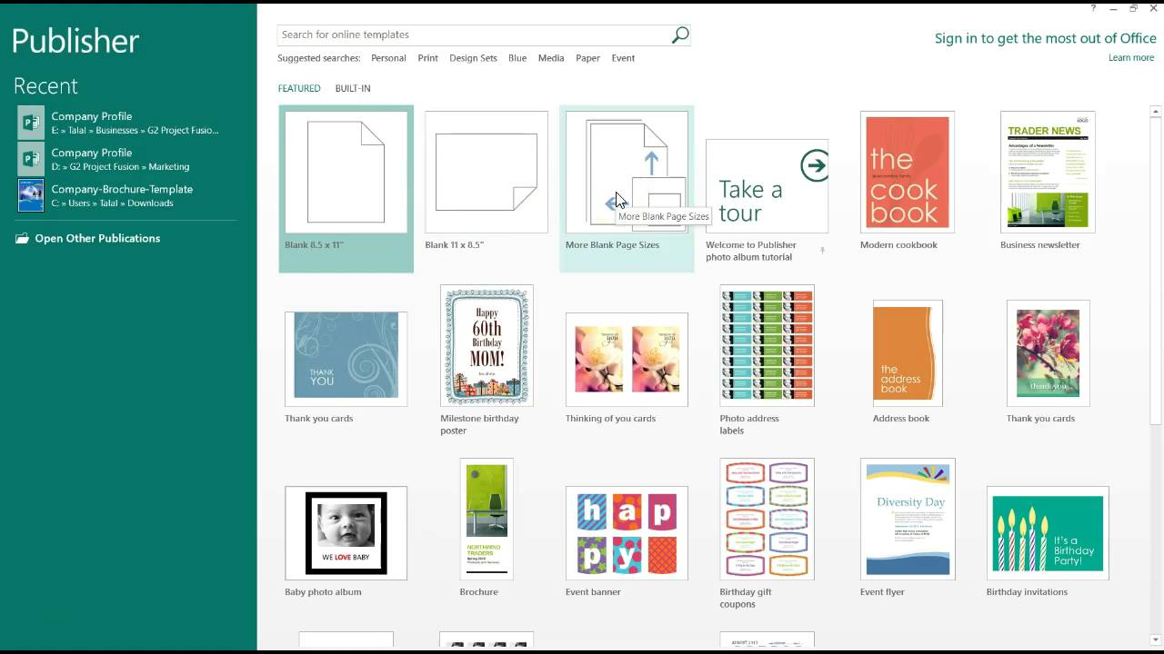 how to create a poster using microsoft publisher youtube