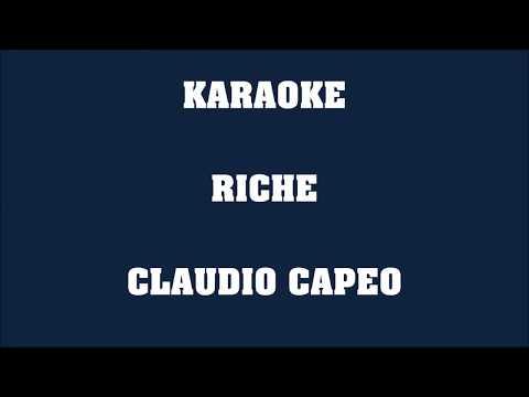 Riche - Claudio Capeo - KARAOKE