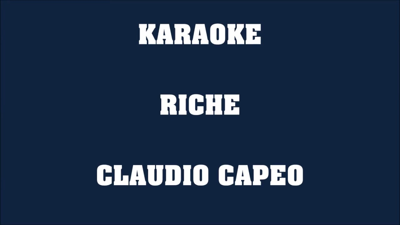 riche claudio capeo mp3