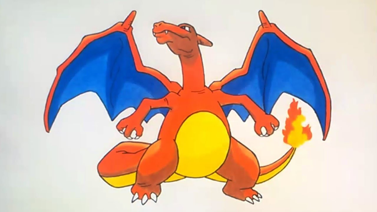 Como Dibujar A Charizard Pokemon Go How To Draw Charizard