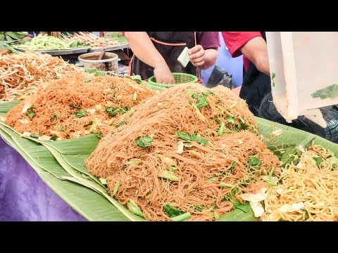 Thumbnail: Bangkok Street Food. Cooking Five Types of Noodles. Thailand
