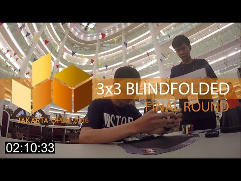 [JAKARTA OPEN 2016] 3x3 Blindfolded   Combined Final Round