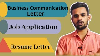 Business Communication - Letter || Job Application and Resume letter