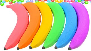 Satisfying Video l DÏY How To Make Rainbow New Banana with Mad Mattr Cutting ASMR