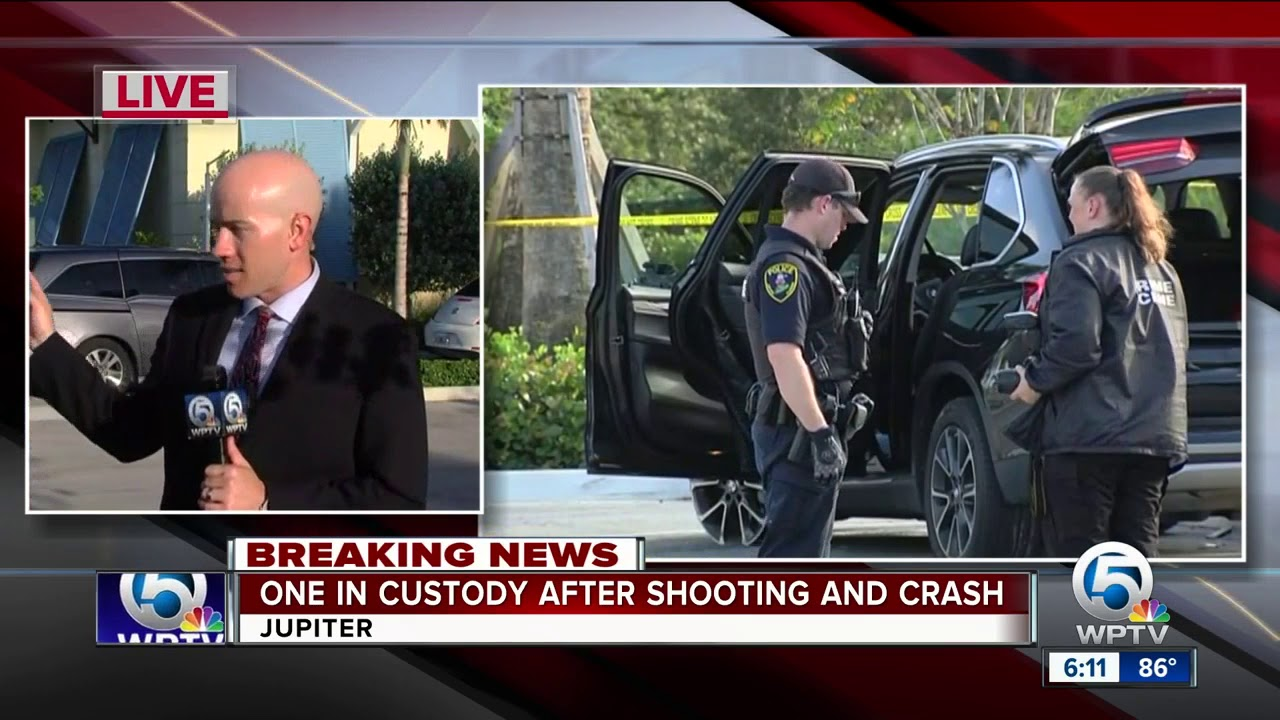 Suspect in custody after shooting and crash in Jupiter